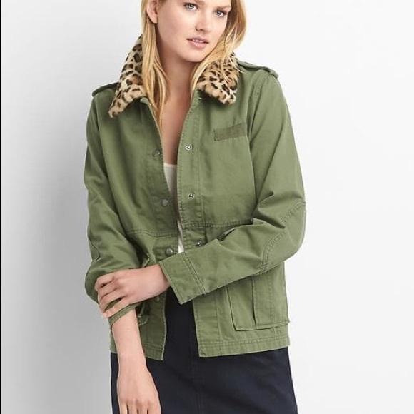 GAP leopard collar jacket 🐆